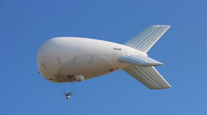 Kestrel Block II on an Aerostat