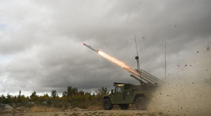 NASAMS HMMWV Firing Raytheon