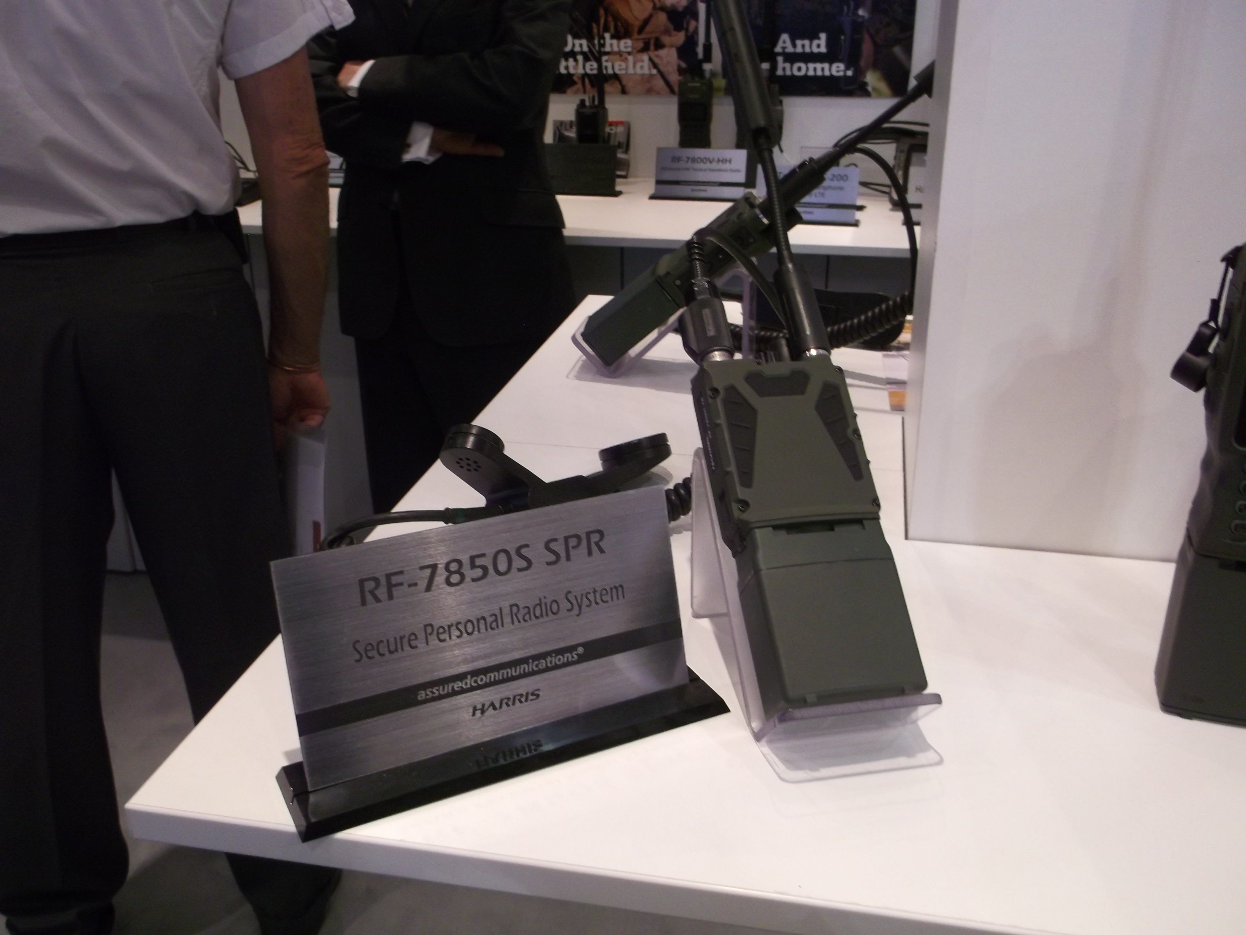 Harris showcased its RF-7850S radio