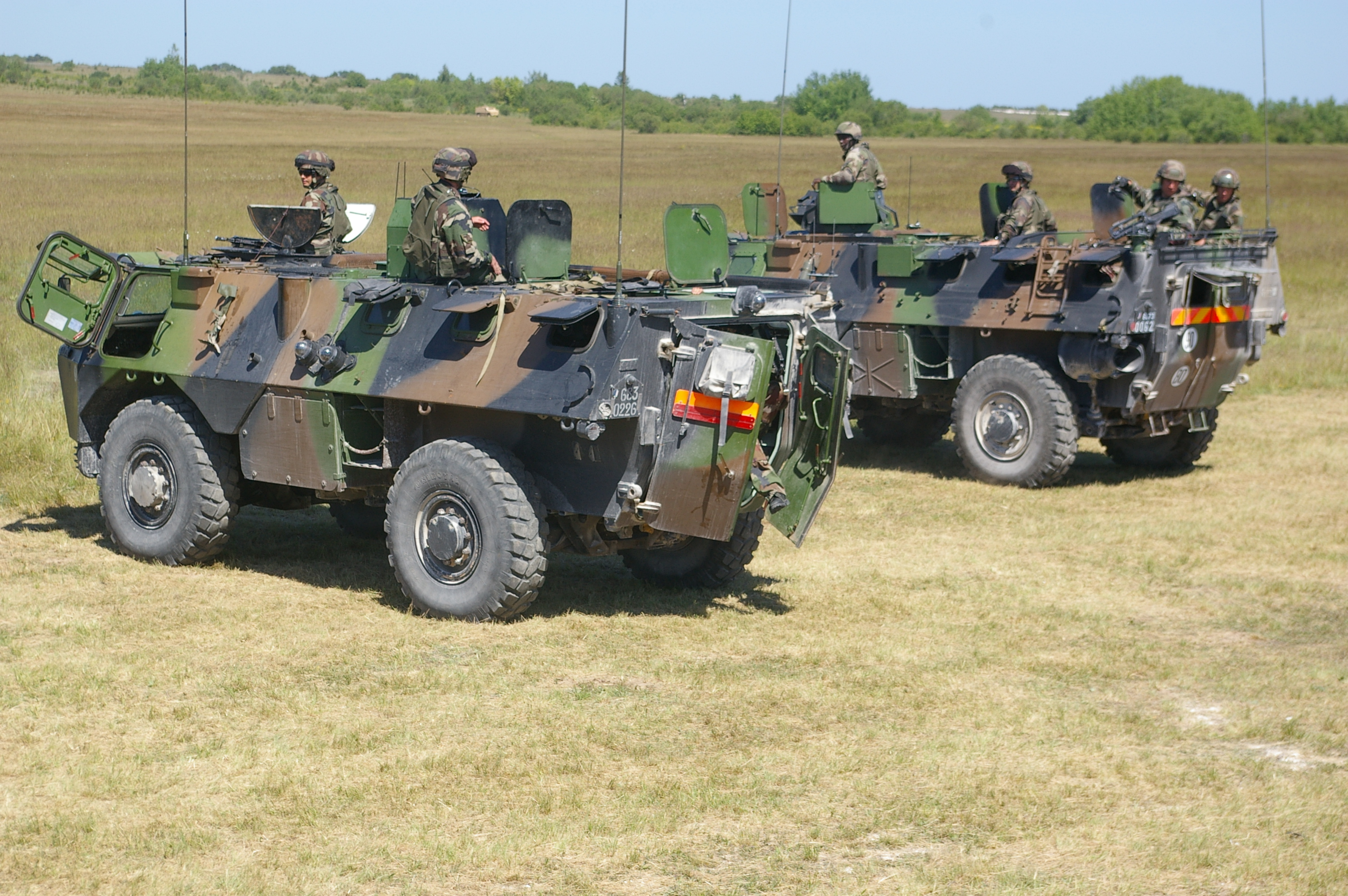 VAB armoured personnel carriers