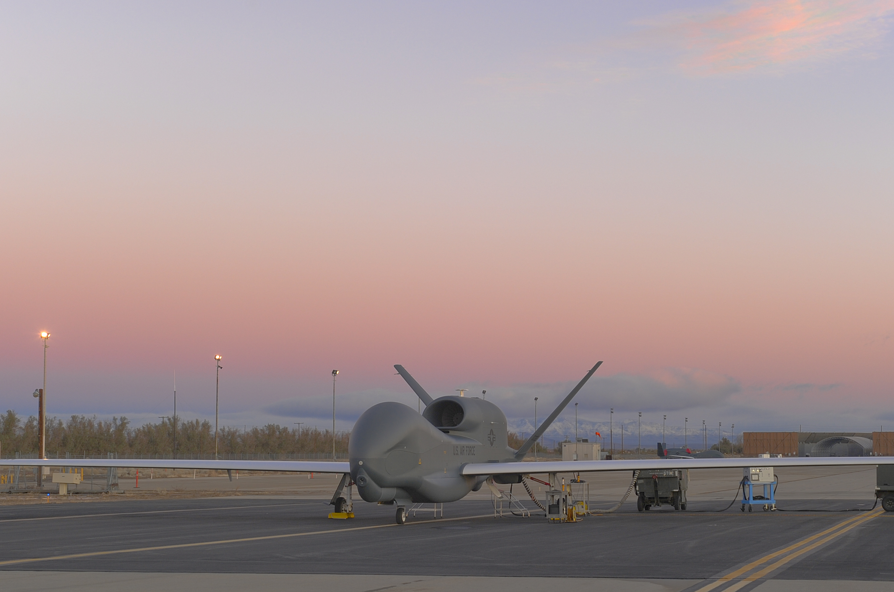 The US Air Force RQ-4B Global Hawk UAV