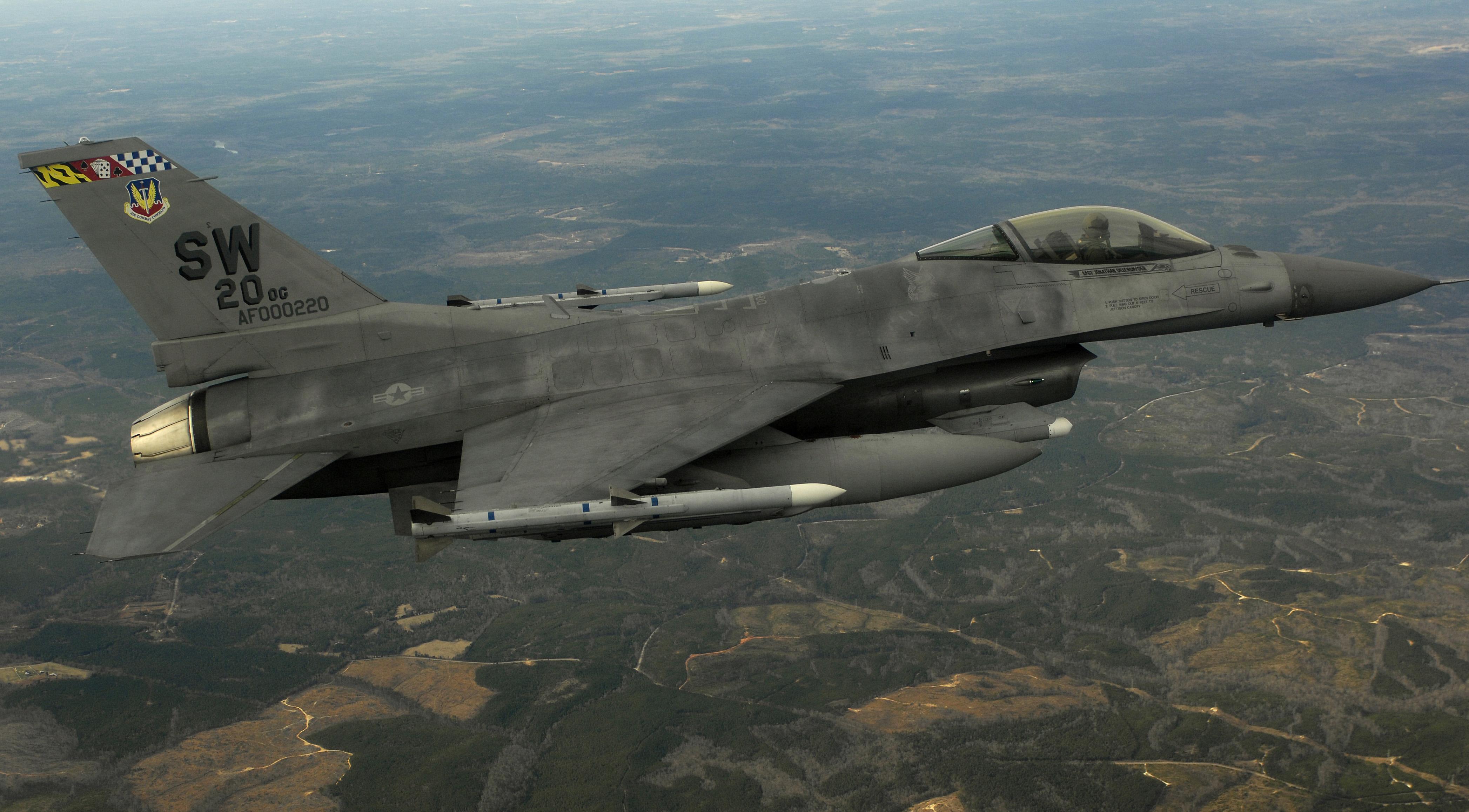 USAF F-16CJ Wild Weasel aircraft