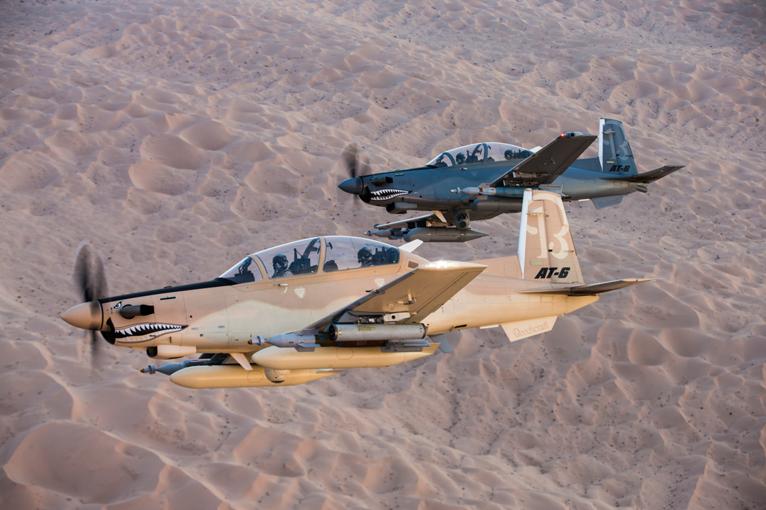 Beechcraft AT-6 Wolverines