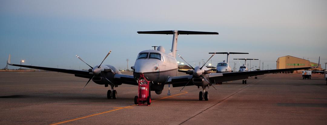 MC-12W ELINT gathering aircraft