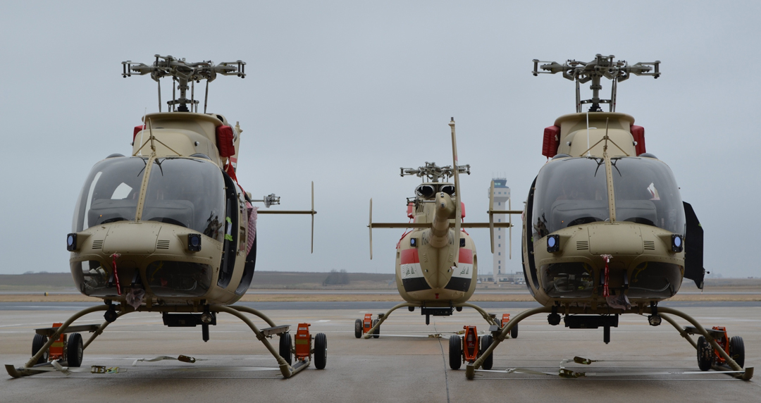 Bell 407 helicopters
