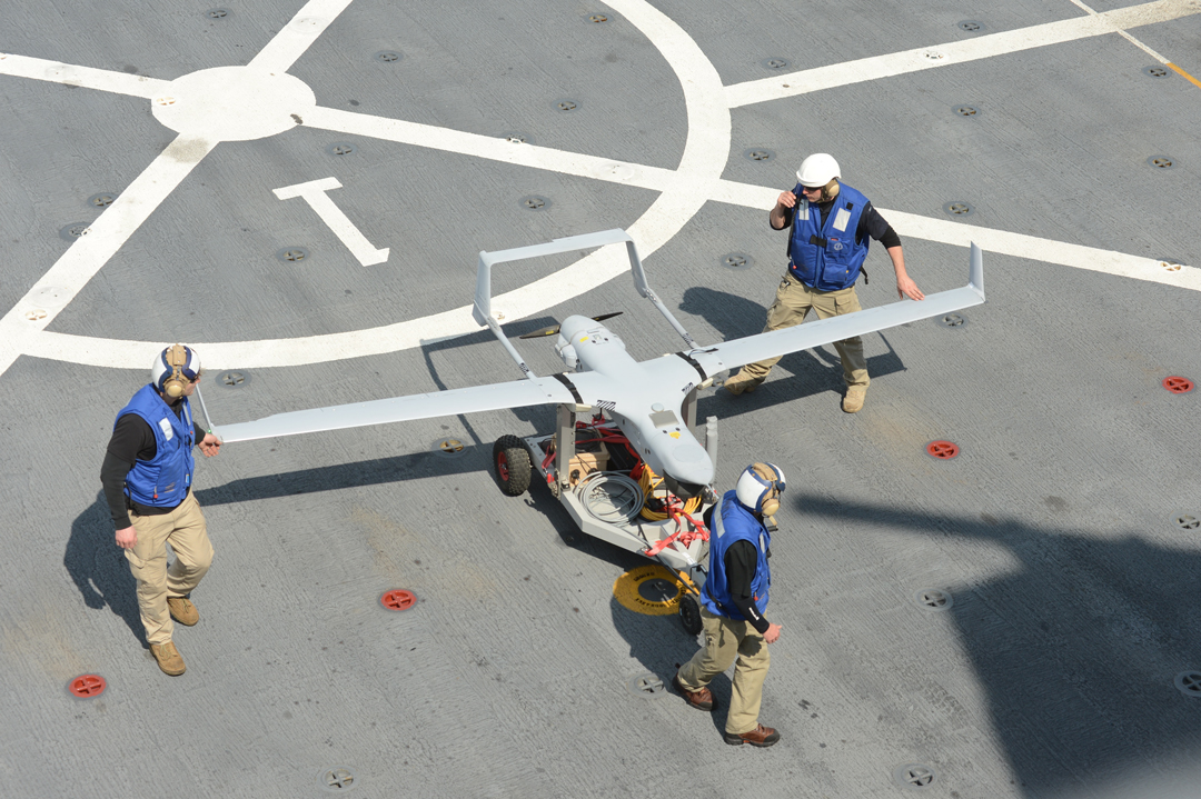 USMC's RQ-21 Blackjack UAVs