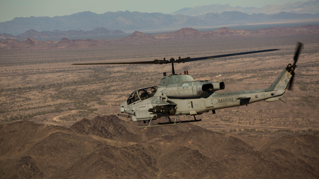 USMC AH-1Z attack helicopter
