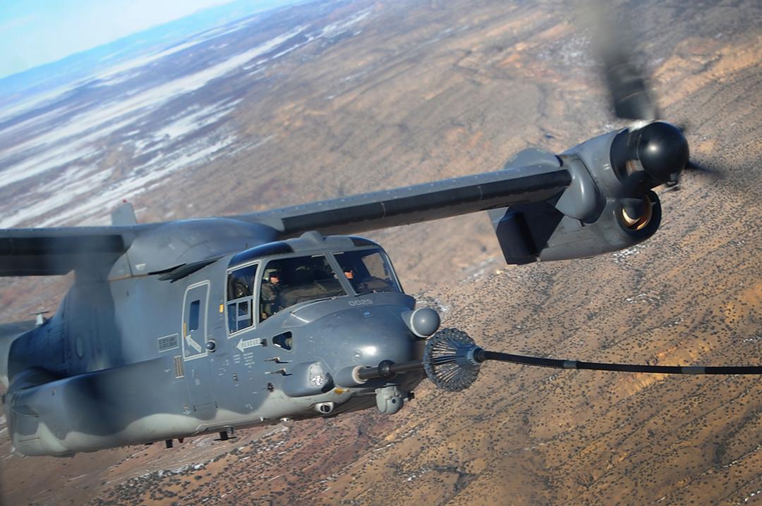 CV-22B tilt rotor aircraft