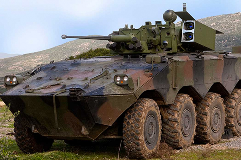 b6f03949ae Freccia was one of the first wheeled 8×8 infantry fighting vehicles. It  uses the automotive baseline of the Centauro but mounts the Hitfist Plus  two amn ...