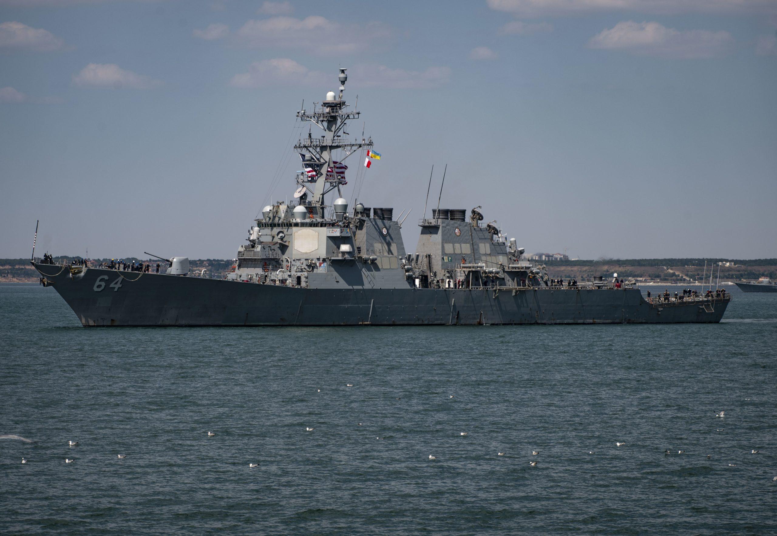 Sea Breeze 2019 - USS Carney (DDG 64) pulls into Odesa, Ukraine
