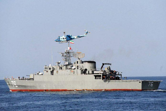 The IRIN Navy frigate Jamaran. (Mohammad Sadegh Heydar)