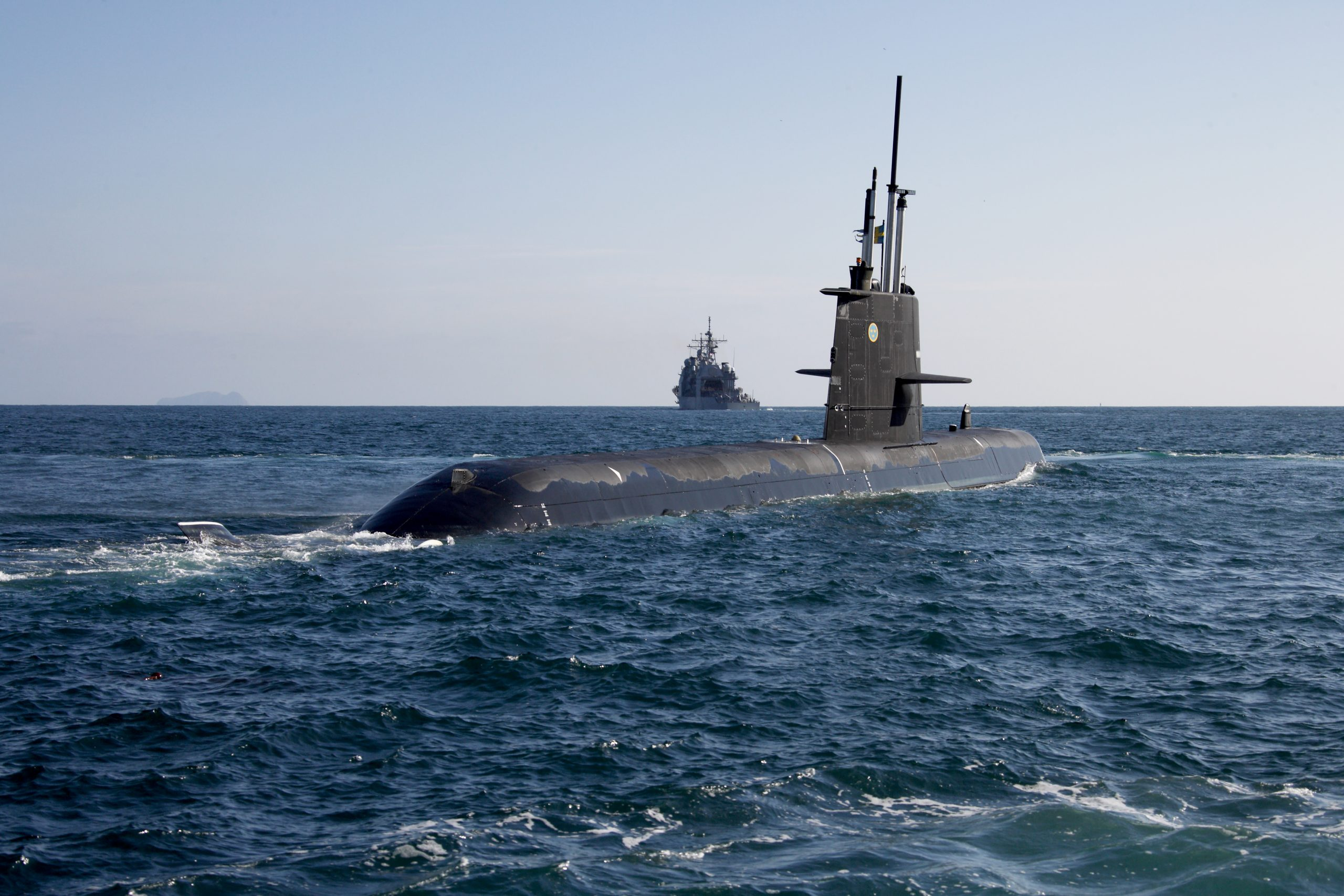 Swedish Royal Navy Gotland-class submarine