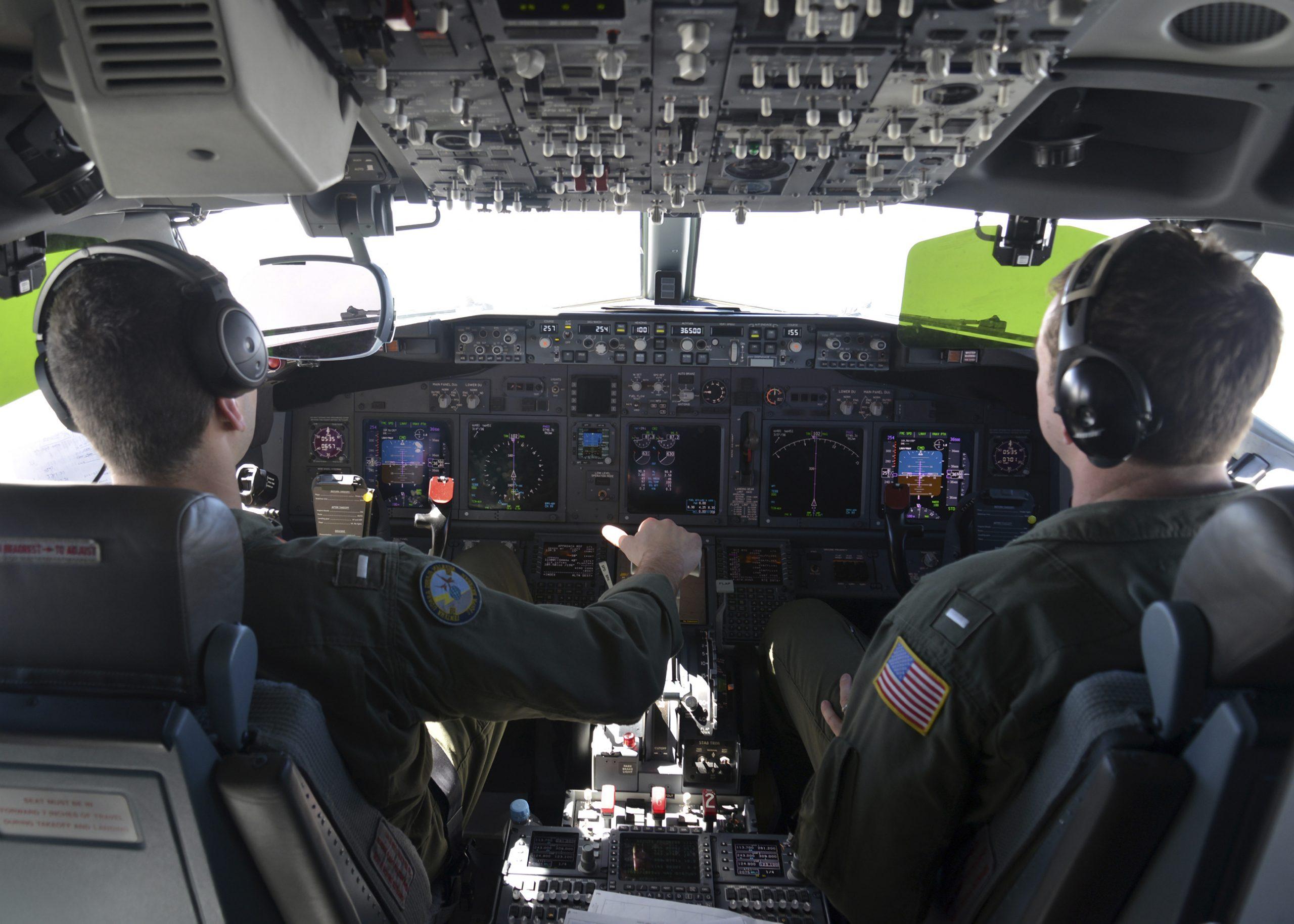 Naval aviators pilot a P-8A Poseidon.