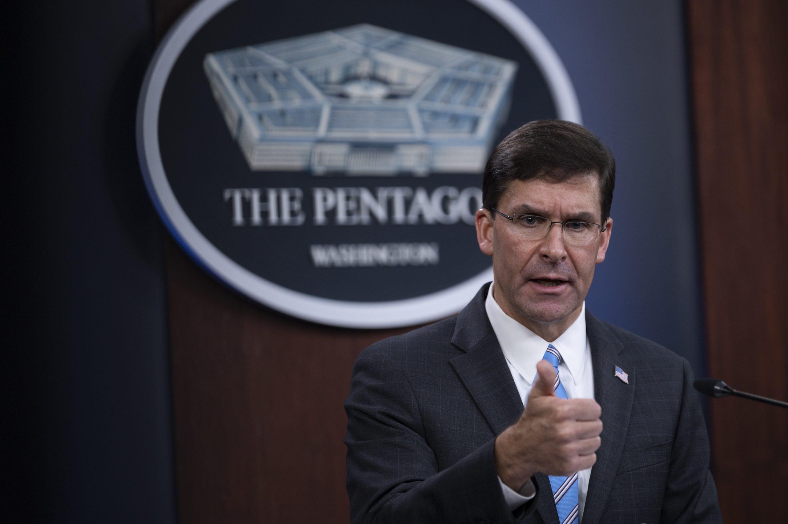 US Secretary of Defense Dr. Mark T. Esper