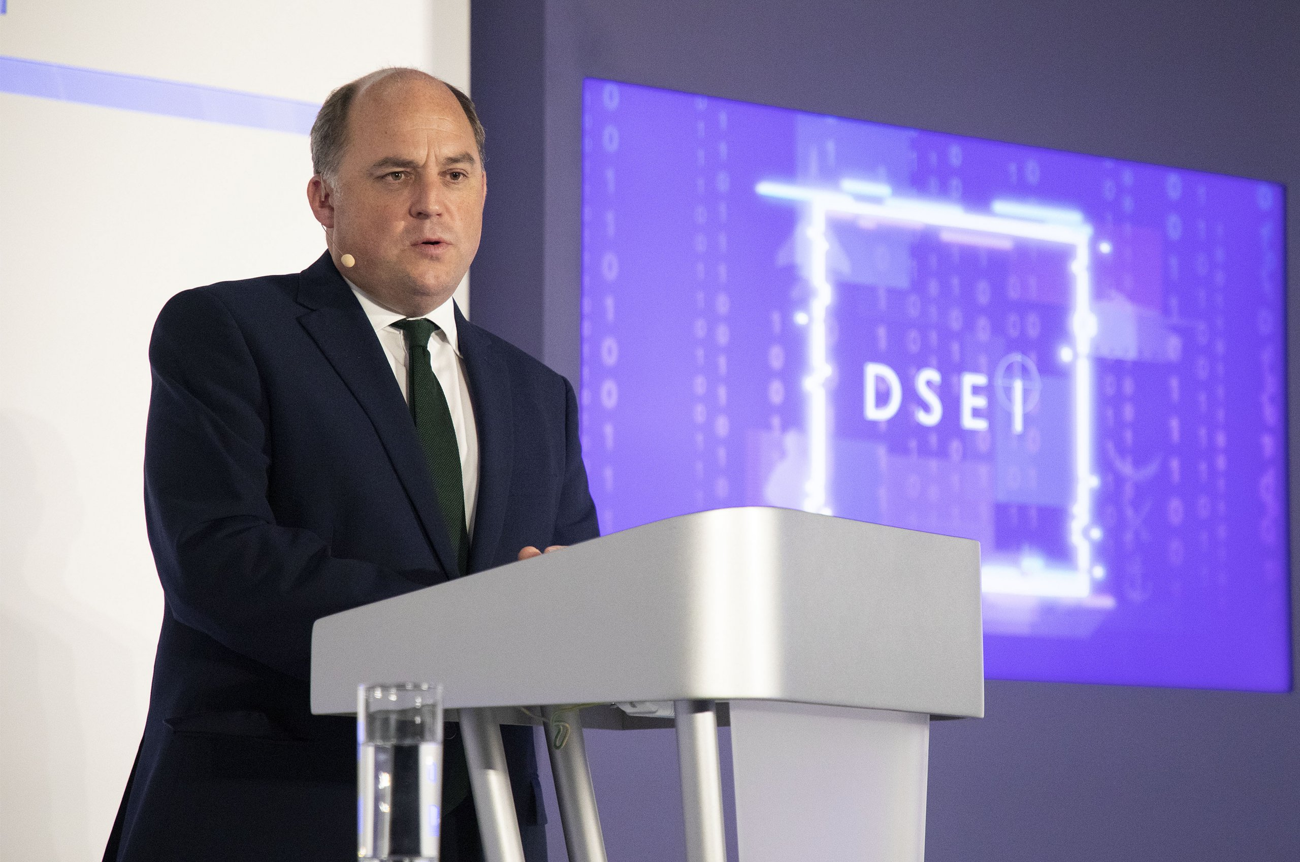 Secretary of State for Defence, The Rt Hon Ben Wallace MP delivering his keynote speech at DSEI 2021.