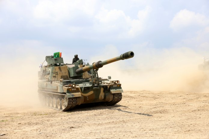 K9A1 Thunder 155 mm/52 caliber Self-Propelled Howitzer system.