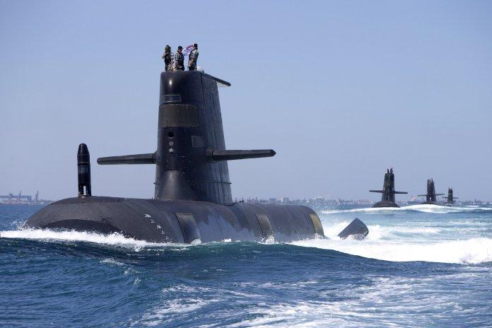 Collins class submarines on patrol. (Royal Australian Navy)