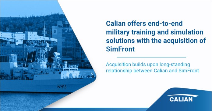 Calian_ Acquisition of SimFront_ Social Card _ 07Oct21_SO